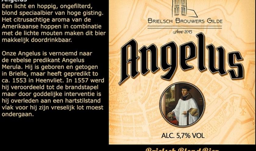"""<p>De naam van het nieuwe bier is """"Angelus"""", naar Angelus Merula, de in Brielle geboren rebelse predikant</p>"""