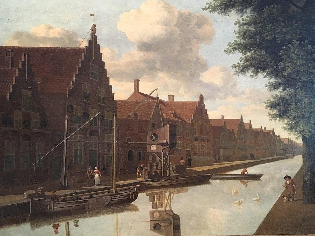 <p>Gezicht op de Bakenessergracht 84 te Haarlem van Job Adriaensz Berckheyde, collectie Belasting en Douane Museum</p>