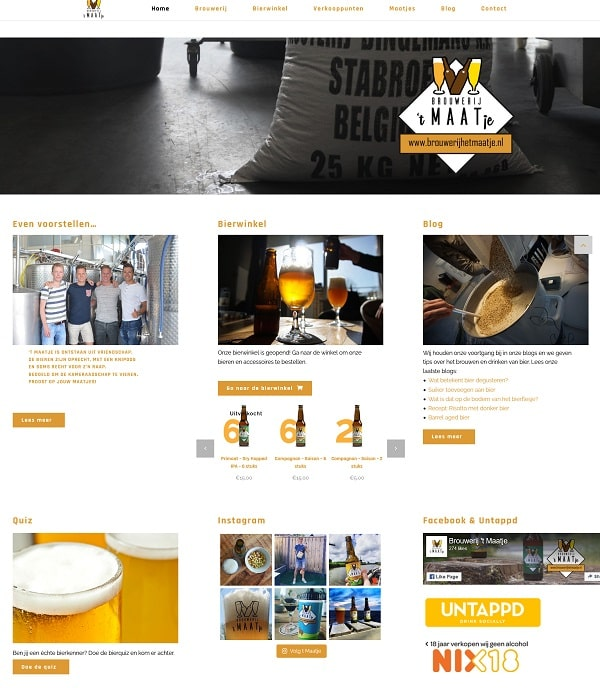 """<p>De website van Brouwerij &#39;t Maatje """"brouwerijhetmaatje.nl""""</p>"""