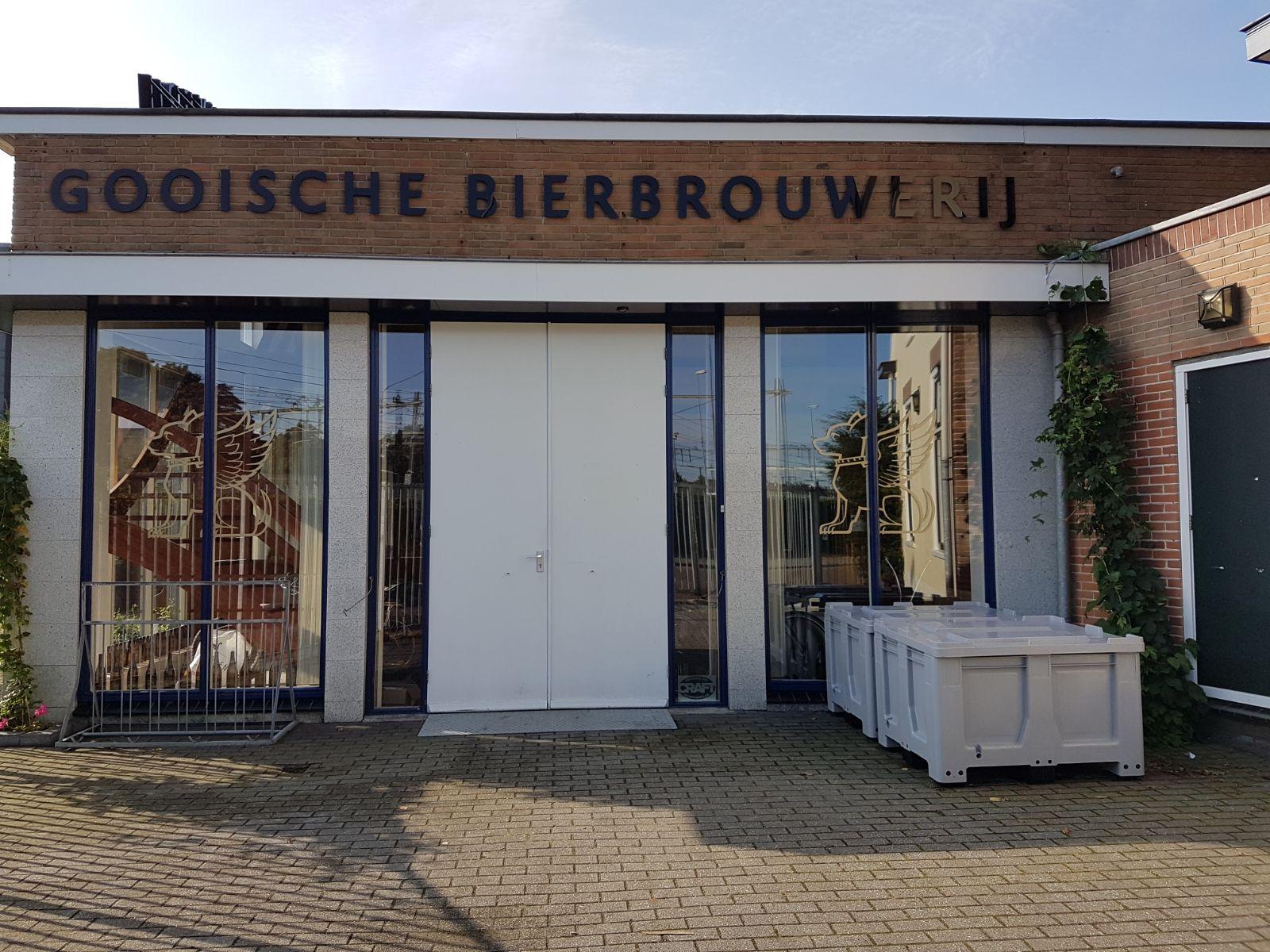 <p>Opslag van de Gooische Bierbrouwerij, gelegen aan het Wandelpad 28 in Hilversum (2017)</p>