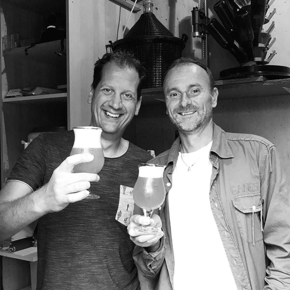 <p>Mart Apon (links) en Arnold Oostrijjk (rechts)</p>