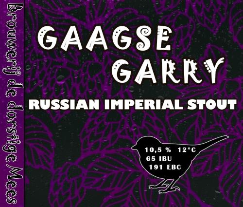 <p>Gaagse Garry (etiket uit hobbyperiode)</p>