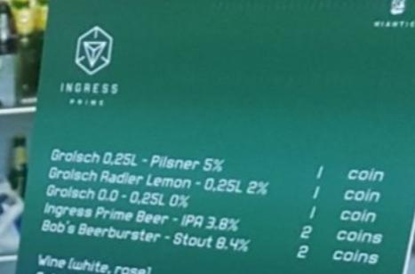 <p>bieren van Tamesteut bij Ingress event (mei 2019)</p>