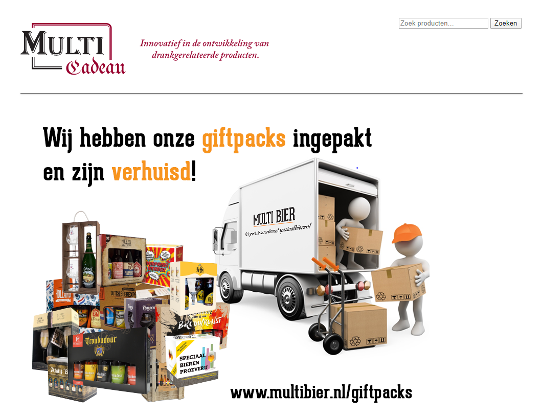 <p>Multi Cadeau website</p>